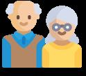 icono de personas mayores que necesitan ayuda a domicilio