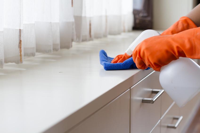 persona limpiando a domicilio